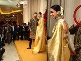Deepika -Ranveer Bangalore Wedding Reception : Ranveer Gives Flying Kiss To Deepika Filmibeat