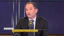 """Retour de Hollande ? """"Je pense que les Français ont tourné la page, en tous cas moi j'ai tourné la page (...) La Ve République c'est une forme de drogue dure pour certains"""" réagit Benoît Hamon"""
