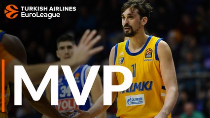 Regular Season Round 8 MVP: Alexey Shved, Khimki Moscow region