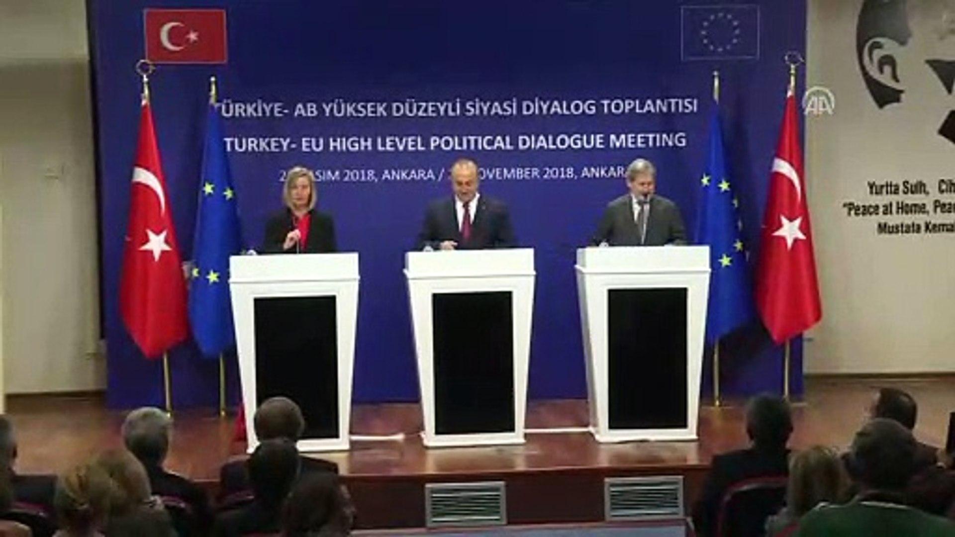 Çavuşoğlu: '(AB süreci) Türkiye'yi dışlayan, aday ülke olduğunu inkar eden açıklamaların f