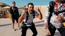 Sky diving  Arabia Travel..!