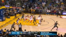 Diallo blocks Durant and sets up Paul George for showboat slam