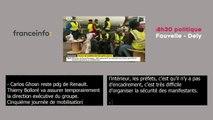Dominique Bussereau, invité du 8h30 Fauvelle-Dély sur franceinfo, doublé en vélotypie