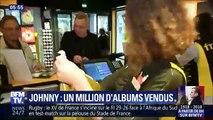 Johnny hallyday -Un million d'albums vendus-Journal de la nuit 05h55-BFMTV (10.11.2018)