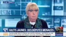 """Députés menacés : """"être bousculé en politique ça arrive, mais des attaques contre nos familles c'est inadmissible"""" explique Claire O'Petit"""