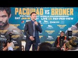 Manny Pacquiao v Adrien Broner    FULL PRESS CONFERENCE