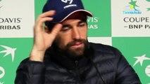 """Coupe Davis 2018 - France-Croatie - Jérémy Chardy : """"Je suis juste triste pour mes potes de l'équipe de France"""""""