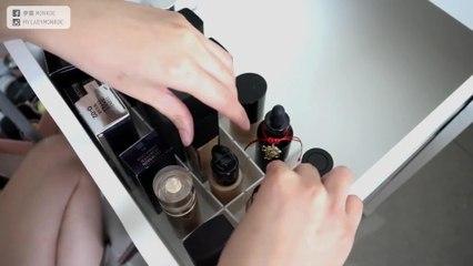 療癒特輯:跟我一起整理彩妝收納櫃!這樣收納超整齊❤|Makeup Storage|夢露 MONROE