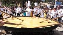 15.000 œufs cassés pour une omelette géante à Saint-Aygulf
