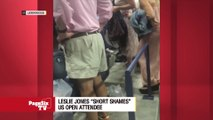 """#SNL star @Lesdoggg has a short temper for men in short shorts, and it was on display at the #USOpen! Do you agree with her """"short shaming,"""" or should she cut the guy a little slack? #PageSixTV"""
