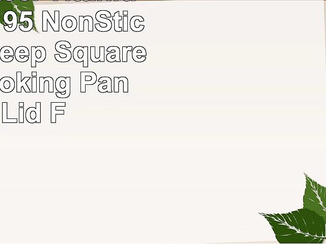 Gotham Steel Titanium Ceramic 95 NonStick Copper Deep Square Frying  Cooking Pan With