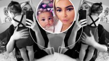 Kylie Jenner's  daughter Stormi, seven months, stands up in sweet Instagram clip