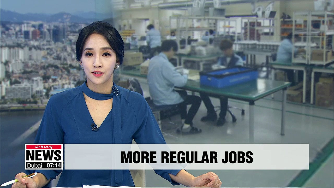 South Korea's 100 listed companies added more regular jobs, reduced temporary jobs