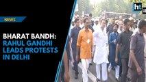 Bharat Bandh: Rahul Gandhi leads protests in Delhi