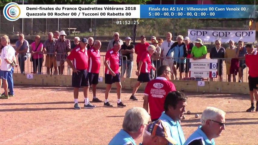 Demi-finales, France Quadrettes Vétérans, Le Cheylard 2018