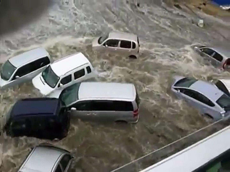 Huge floods sweep southern Japan like tsunami, catch on camera