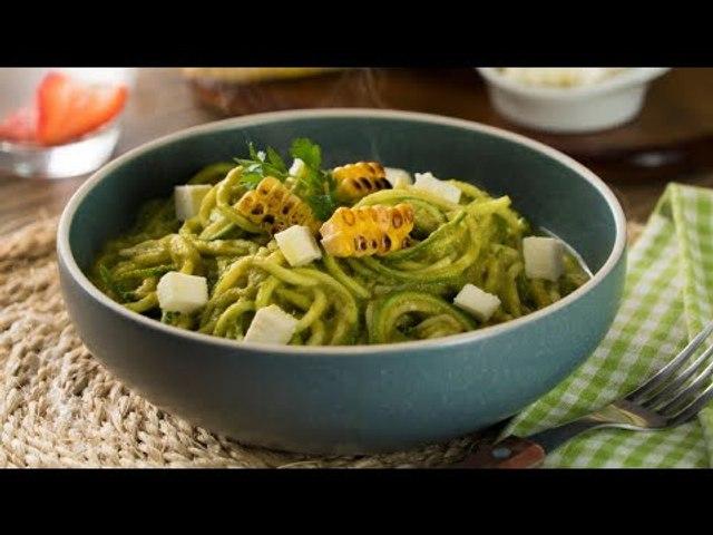 Noodles de  Zucchini a la Poblana