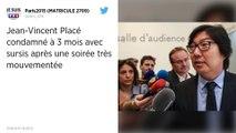 Jean-Vincent Placé condamné à trois mois de prison avec sursis pour violences et outrages.