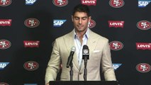 Jimmy Garoppolo reacts to his first loss as a starter