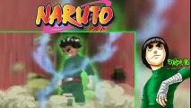 Rock lee vs Gaara lee abre las 5 puertas, Gaara quiere asesinar a lee   Naruto Audio Latino