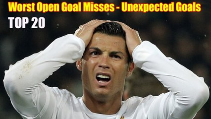 Top 20 Craziest Moments in Football History (Unexpected Goals & Worst Open Goal Misses)