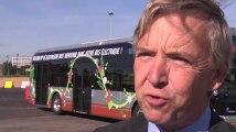 La livraison du premier grand bus électrique à la STIB
