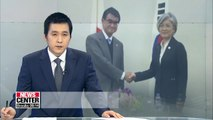 Foreign ministers of S. Korea, Japan discuss N. Korea's denuclearization