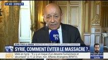 """Syrie: """"Il y a quelques dizaines de combattants français"""", à Idleb, estime Jean-Yves Le Drian"""