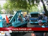 Razia Parkir Liar, Petugas Diserang Puluhan Tukang Parkir