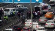 - E-5 Otoyolu Çağlayan Mevkii'nde motorize polis ekipleri kaza yaptı. Olay yerine çok sayıda ambulans gönderildi.