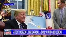 GLOBALITA: State of emergency, idineklara sa US dahil sa hurricane Florence; Mariana Island sa Guam, nakaalerto sa bagyong Mangkhut; 50 patay matapos mahulog ang isang bus sa bangin sa India; Kakaibang uri ng snailfish, nadiskubre sa Chile at Peru