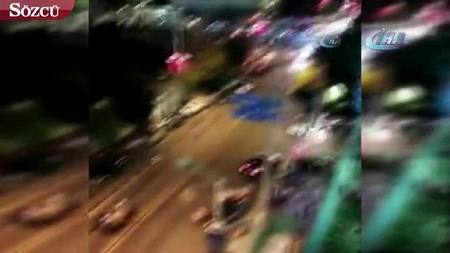 Çin'de araç yayaların arasına daldı