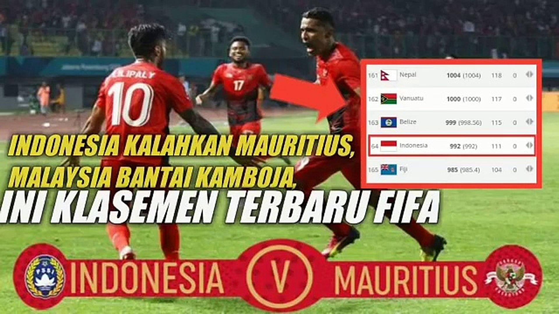 Indonesia Kalahkan Mauritius, Malaysia Bantai Kamboja, Ini Klasemen Terbaru FIFA