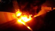İstanbul Kocasinan'da Atık Kağıt Deposunda Yangın