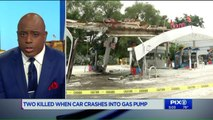 2 Killed When Car Slams into Gas Station, Bursts into Flames on Long Island