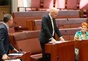 Senators Pauline Hanson and Richard Di Natale Battle Over Proposed Burqa and Niqab Ban