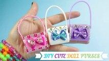 DIY Barbie Doll Miniature Purse, Handbag, Bag - Cute Styles each in under 1 Minute