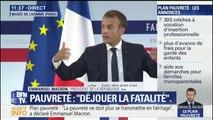 """Emmanuel Macron: """"On apprend des personnes pauvres. Ce sont elles qui ont la réponse. Ce que je vous dis, c'est ce qu'elles m'ont fait comprendre et que je ne comprenais pas"""""""