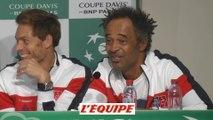 Noah «Benoît Paire ne peut pas casser plus de trois raquettes par set» - Tennis - Coupe Davis