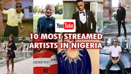 Davido Wizkid Olamide make Youtubes 10 most streamed artists