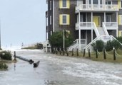 Water Rushes Into North Carolina Beach Town as Hurricane Closes In
