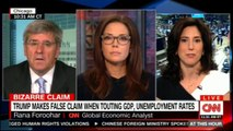 Panel discussing on Donald Trump makes false claim when touting GOP, Unemployment rates. #CNN #News #DonaldTrump @RanaForoohar