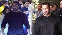 Salman Khan wears BLACK kurta for Ganpati Celebrations; Watch Video | FilmiBeat