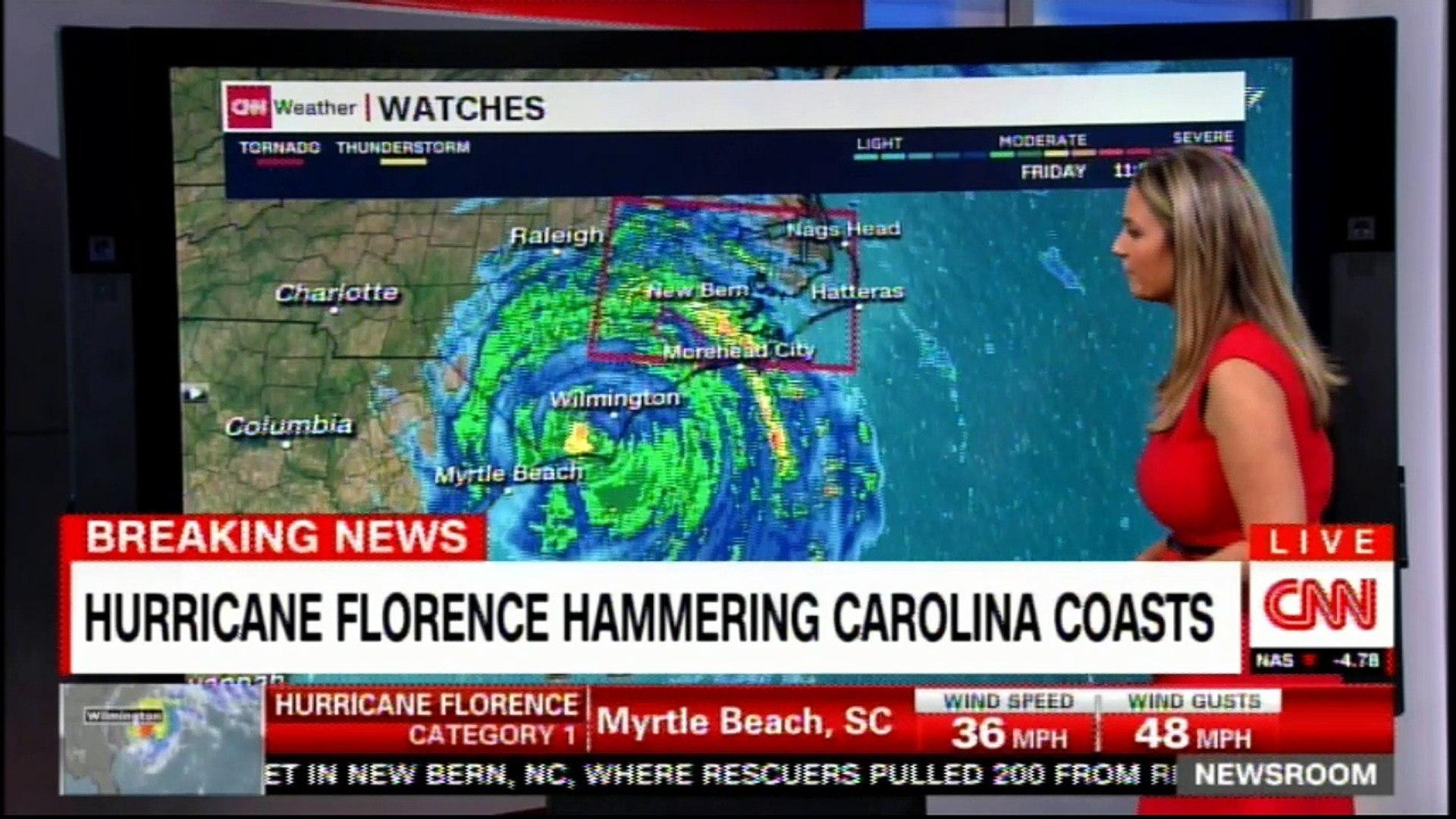 Hurricane Florence hammering Carolina coasts  #Carolina #HurricaneFlorence  #Breaking #CNN #News #Weather