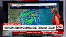 Hurricane Florence hammering Carolina coasts. #Carolina #HurricaneFlorence #Breaking #CNN #News #Weather