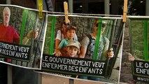 Manifestation en Belgique contre l'enfermement d'enfants de clandestins