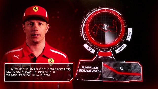 Kimi Raikkonen explains the Marina Bay circuit, Singapore 2018