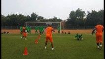 Football: CI vs Rwanda, l'entrainement des gardiens de buts de Côte d'Ivoire