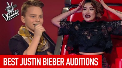 BEST JUSTIN BIEBER Blind Auditions on The Voice Kids [PART 2]