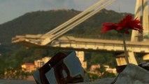 A genovai hídkatasztrófára emlékeztek